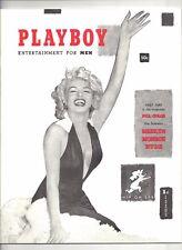 MARILYN MONROE PLAYBOY MAGAZINE 1953 #1 REPRINT + (2) HUGH HEFNER BONUS CARDS