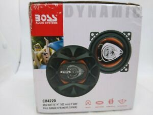 """BOSS CH4220 4"""" 200W 2-Way Car Audio Coaxial Speakers Stereo Red PAIR"""