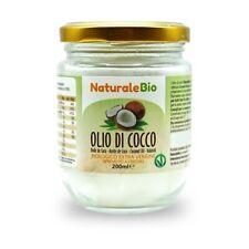 200 ml Olio Di Cocco Biologico Pressato A Freddo Crudo Puro 100% Extra Vergine