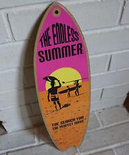 ENDLESS SUMMER SURFBOARD SIGN Pink Orange Tropical Beach Surfer Home Decor NEW