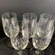 More details for theresienthal connoisseur long stem glasses set of 5 handgravour crystal bavaria