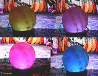 2 Pack Himalayan Natural Rock Crystal Globe Salt Night Lamps LED Air Purifier