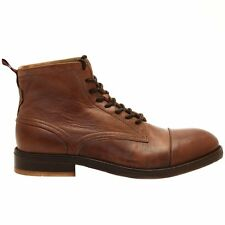 New H By Hudson Palmer Size 43 / 10 US Men's Cap Toe Calfskin Ankle Boots