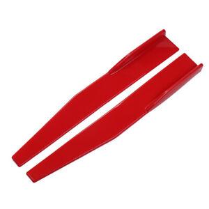 2xUniversal Red Side Skirt Rocker Splitters Spoiler Canard Diffuser Winglet Wing