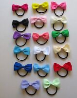 LADIES/GIRLS NON-TANGLE BOW  HAIR BAND/TIES - 15 COLOURS