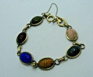 Vintage AMCO 1/20th 12kt Gold Filled Scarab Bracelet  13.2g