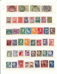 Netherlands Stock Page of Early Semi-Postal