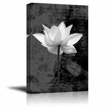 Wall26 - Peering onto a Water Lily in Black and White - Canvas Art - 24x36