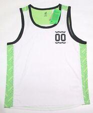 H&M sport men's sleeveless quick dry sports tank shirt white green gray sz L Nwt