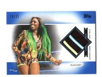 WWE Naomi 2017 Topps Women's Division Blue Shirt Relic Card SN 19 of 25