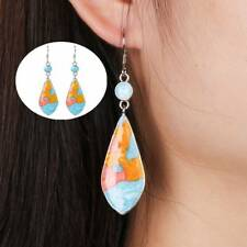 Vintage Dangle Earrings Natural Turquoise Stone for Women Girls Party Jewelry