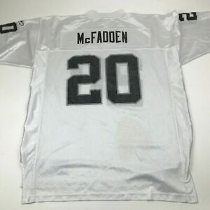 Reebok Darren McFadden Oakland Raiders Football Jersey Size Extra Large XL White