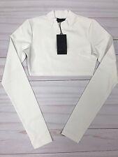 Puma x Fenty By Rihanna Women's Size Medium Cropped Workout Top White New