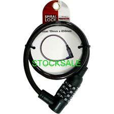 COMBINATION LOCK 10MM STEEL CABLE COMBINATION LOCK SPIRAL BIKE CHAIN NEW