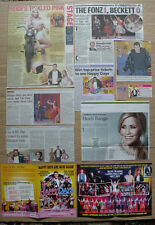 Happy Days -Theatre clippings/reviews & leaflet flyers-Heidi Range & Ben Freeman