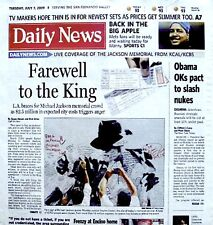 Michael Jackson Newspaper LA Daily News 2009 Tribute MJ Thriller King Of Pop