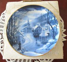 Rob Sauber Peaceful Village American Blues Artaffects Collectors Plate w/Box COA