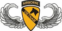 "1st Cavalry Airborne Vietnam 5.5"" Window Sticker 'Officially Licensed'"