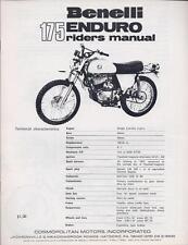 1960's Benelli 65cc & 175cc Enduro - 5 factory parts, service, & owners manuals