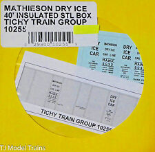 Tichy Train Group #10255 Decal for: Mathieson Dry Ice / 40' Insuladed Steel Box