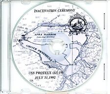 USS Proteus AS 19 Inactivation Program 1992 on CD Navy