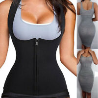 Women Neoprene Sauna Sweat Waist Trainer Vest  For Weight Loss Gym Workout