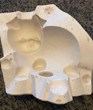 Vintage Smokey #4 Large Pig Piggy Slip Cast Casting Ceramic Mold