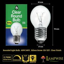 BELL 60W 240V EDISON SCREW ES/E27 CLEAR ROUND BULB