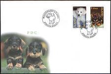 Finland Aland FDC 2001 Pets Dog Puppies Mint