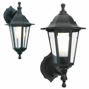LED Black Rustproof Traditional Coach House Wall Garden Outdoor Lantern Light