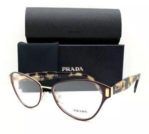 New Prada Eyeglasses VPR 58U TY7-101 Burgundy 53•17•140 With Case