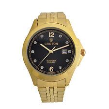 Croton Men's CN307562YLBD Diamond Accent Markers Quartz Black Dial Dress Watch