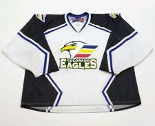 Colorado Eagles SP CHL Minor League Hockey Sewn Jersey Size XXL White Black Blue