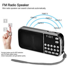 Mini Radio FM Altoparlante Stereo Portatile Digitale Lettore LED USB TF AUX U0N8