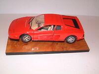 Sammlerauflösung -  Burago Modellauto, Maßstab 1:18 Ferrari  (1987)  in rot