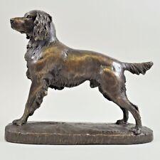 Springer Spaniel Cold Cast Bronze Figurine Sculpture Ornament Dog Lovers Gift