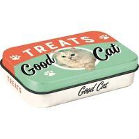 Katze Leckerli Dose für unterwegs aus Metall Treats Cat 9,5 cm