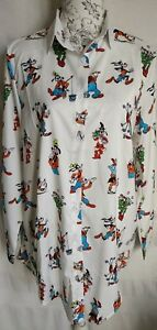 """WOMENS LOOSE FIT FUNKY CUTE GOOFY LONG SHIRT BLOUSE NEW 1 SIZE BUST 45"""" 114 CM"""