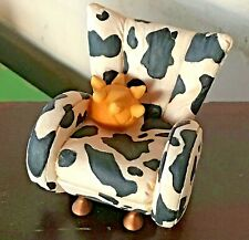 Vintage Take A Seat By Raine Miniature Dollhouse Cow Prnt Chair C.1998 24020 Nib