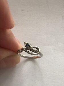 Silber 925 Ring Schlange Echtsilber  Gr. 51