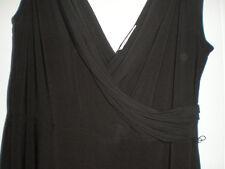 GORGEOUS CLASSIC BLACK PRECIS FAUX WRAP BUST FRONT DRESS SIZE 16