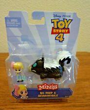 Disney Toy Story 4 Minis Bo Peep & Skunkmobile Figurine Pixar NIP