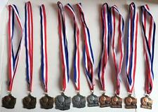 Lot of 10 Crown Trophy BASKETBALL Medals Awards Gold Silver & Bronze Made in USA