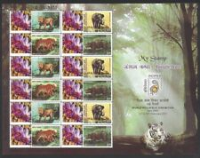 India 2011 Personalised stamps Sheetlet MNH Wild Life & Flowers