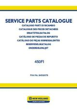 NEW HOLLAND 450FI FORAGE EQUIPMENT HEADERS NORTH AMERICAN PARTS CATALOG