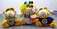 Set of 3 Vintage Collectible Garfield Plush's: Get Well Soon Goldilocks Congrats