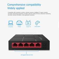 SG105M Mini 5 Ports 10/100/1000M Desktop Gigabit Switch Ethernet Network LAN