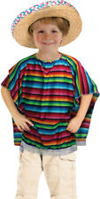 Fancy Club Party Children Book Week Day Mexican Poncho Only Multicolour UK