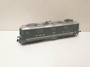 Jouef locomotive electrique re 4/4 sbb cff verte en HO