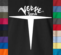 VERVE RECORDS Vintage 100% Ringspun Cotton T-Shirt Jazz Soul Breaks Label Tee